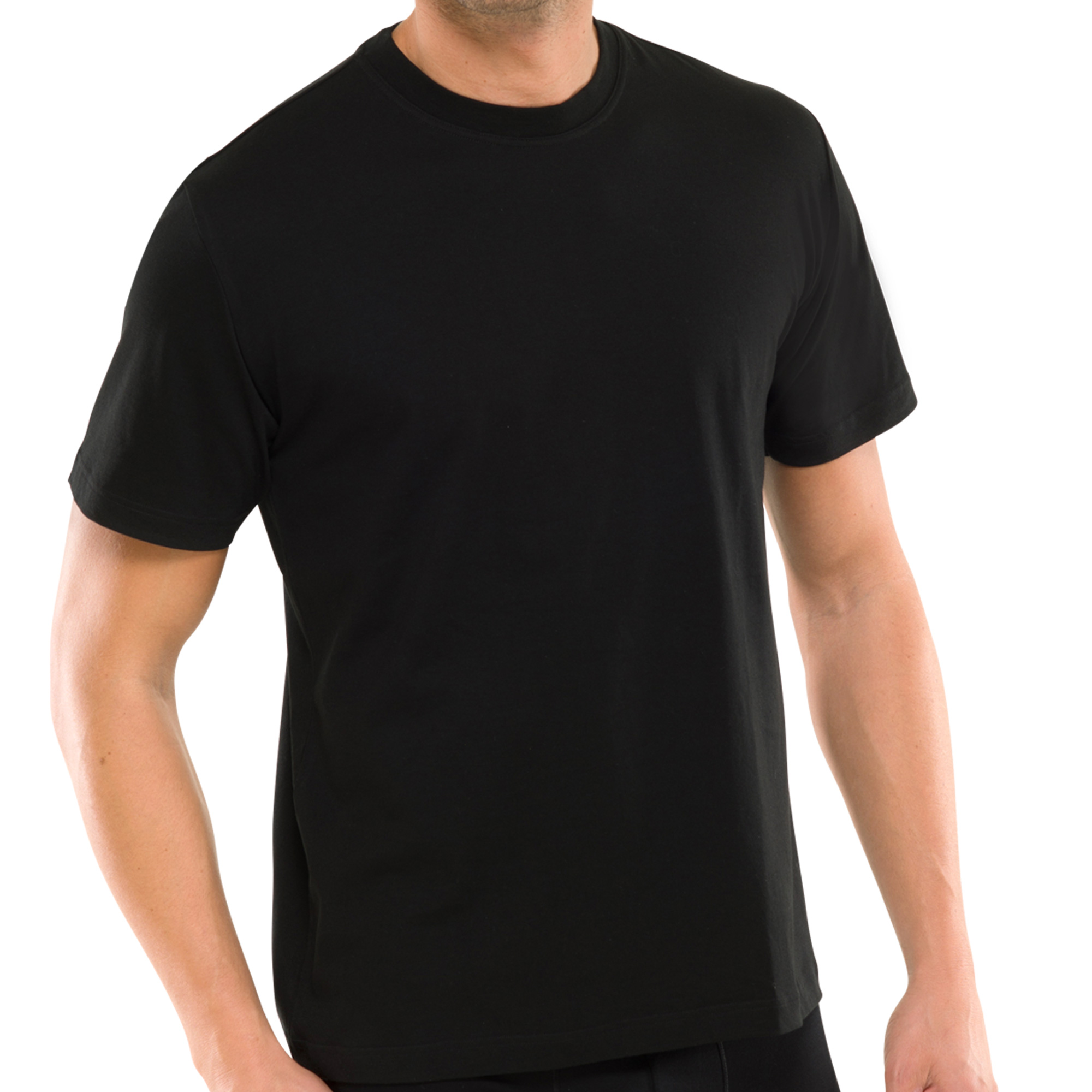 2er Pack Schiesser Herren American T- Shirts mit Rundhals, 100% Baumwolle, Neu – Bild 5