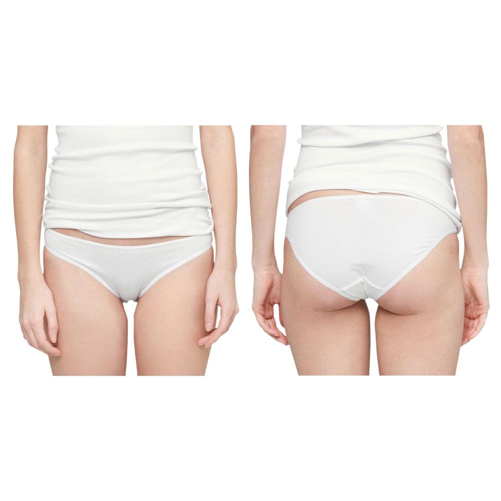 DIADORA Damen Slip 100/% Baumwolle Weiß Blau Rand Slips Neu