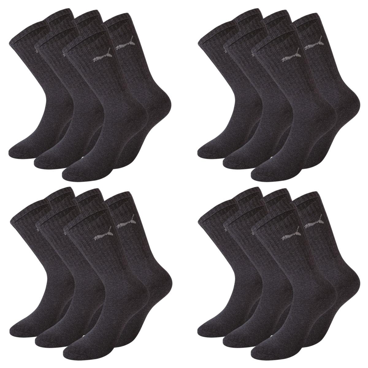 12 Paar Puma Socken, anthrazit