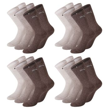 12 Paar Puma Socken, Sportsocken, Tennissocken,chocolate / walnut / safari