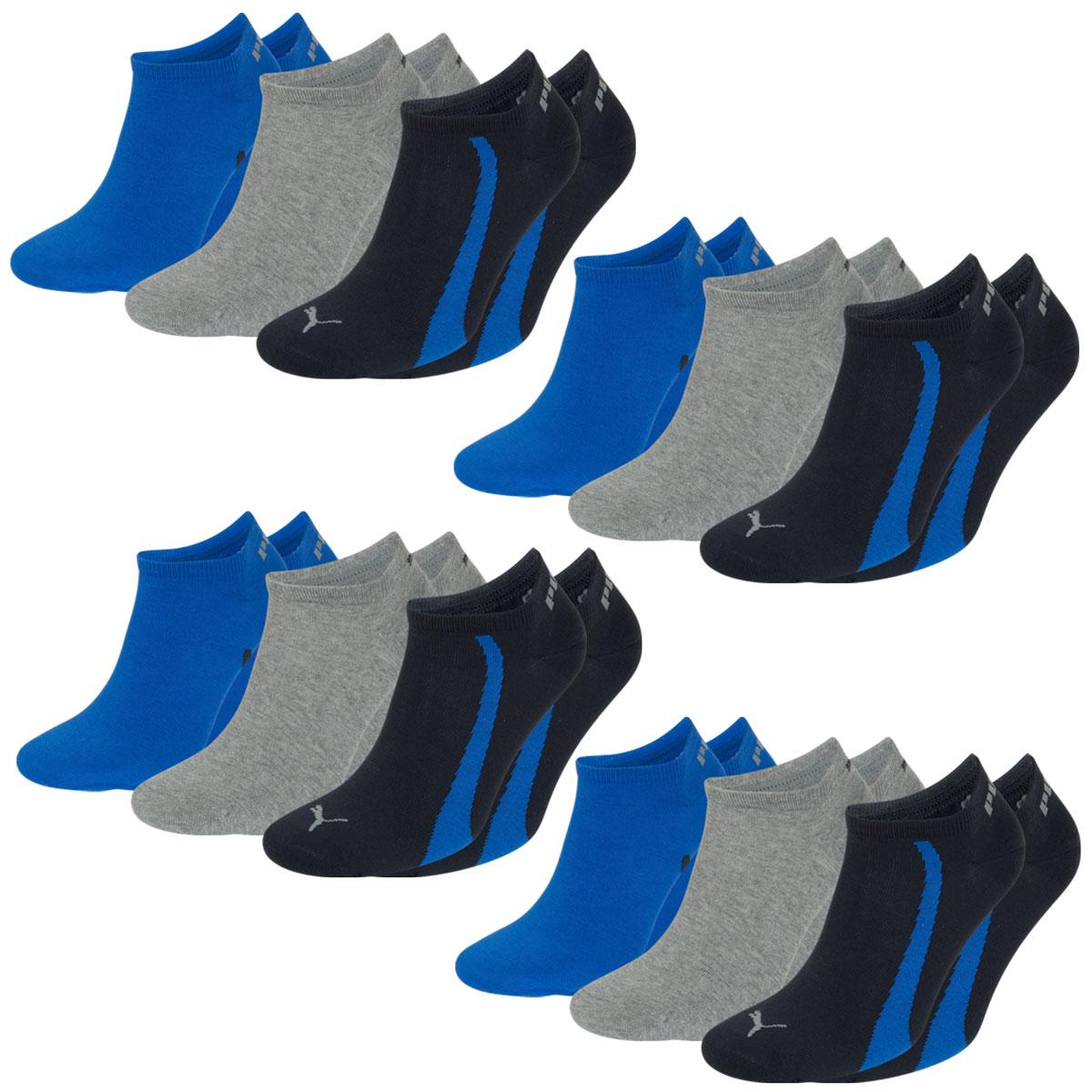 12 Paar Puma Füsslinge, navy / grey / strong blue, Farbe 6