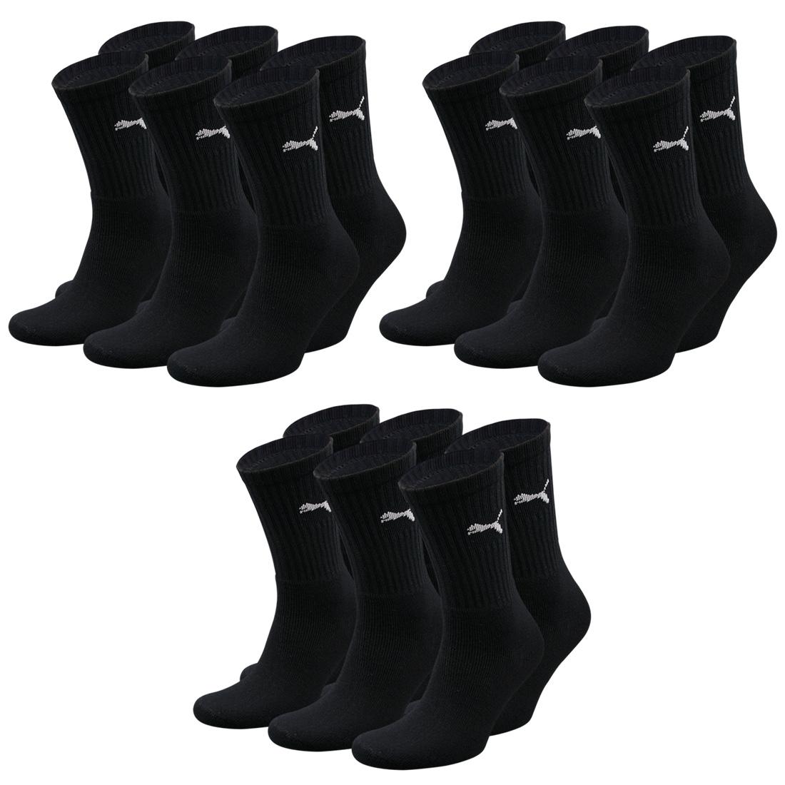 9 Paar Puma Socken, schwarz