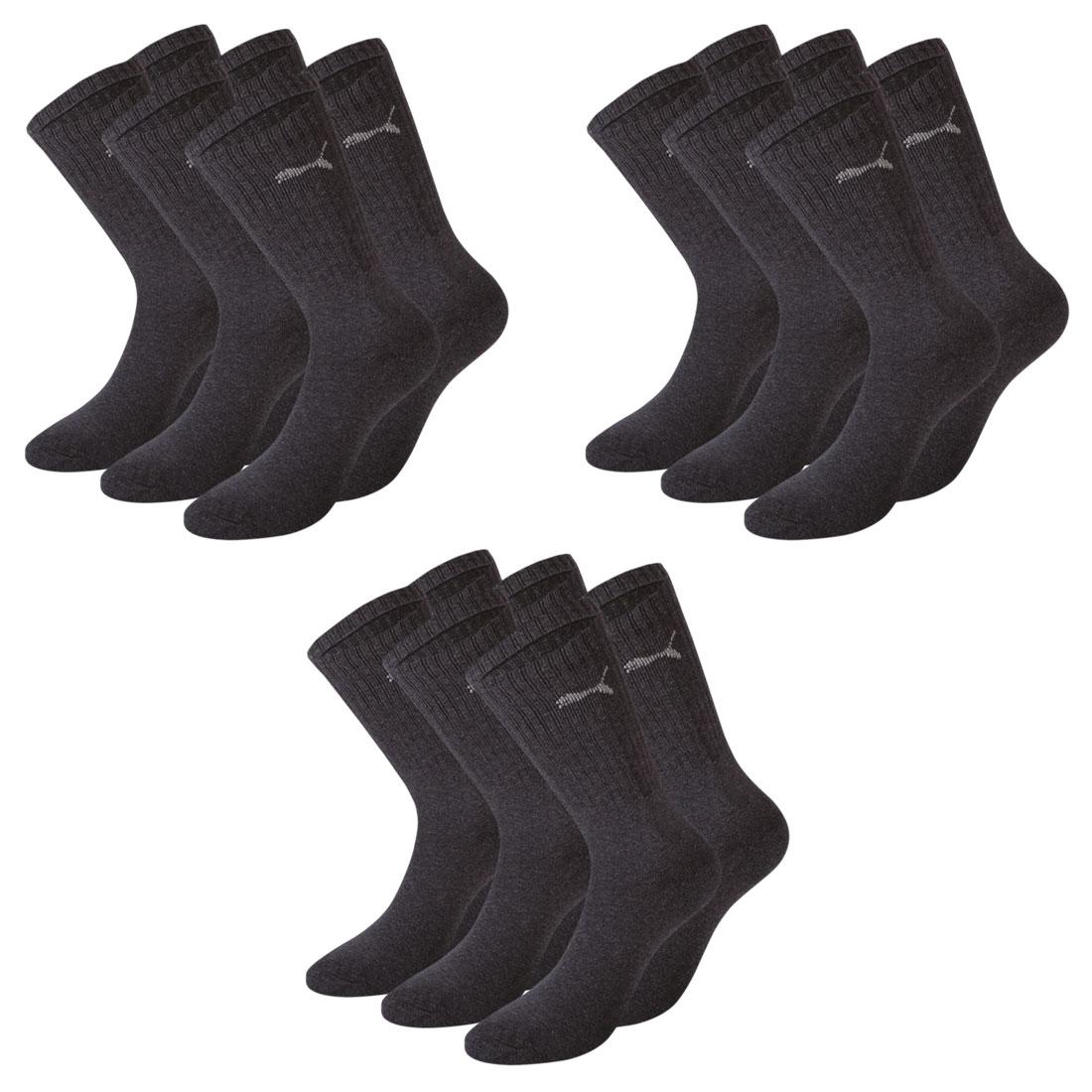 9 Paar Puma Socken, anthrazit
