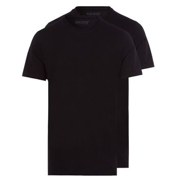 SKINY 2er Pack Herren Shirt Collection T-Shirt, schwarz – Bild 1