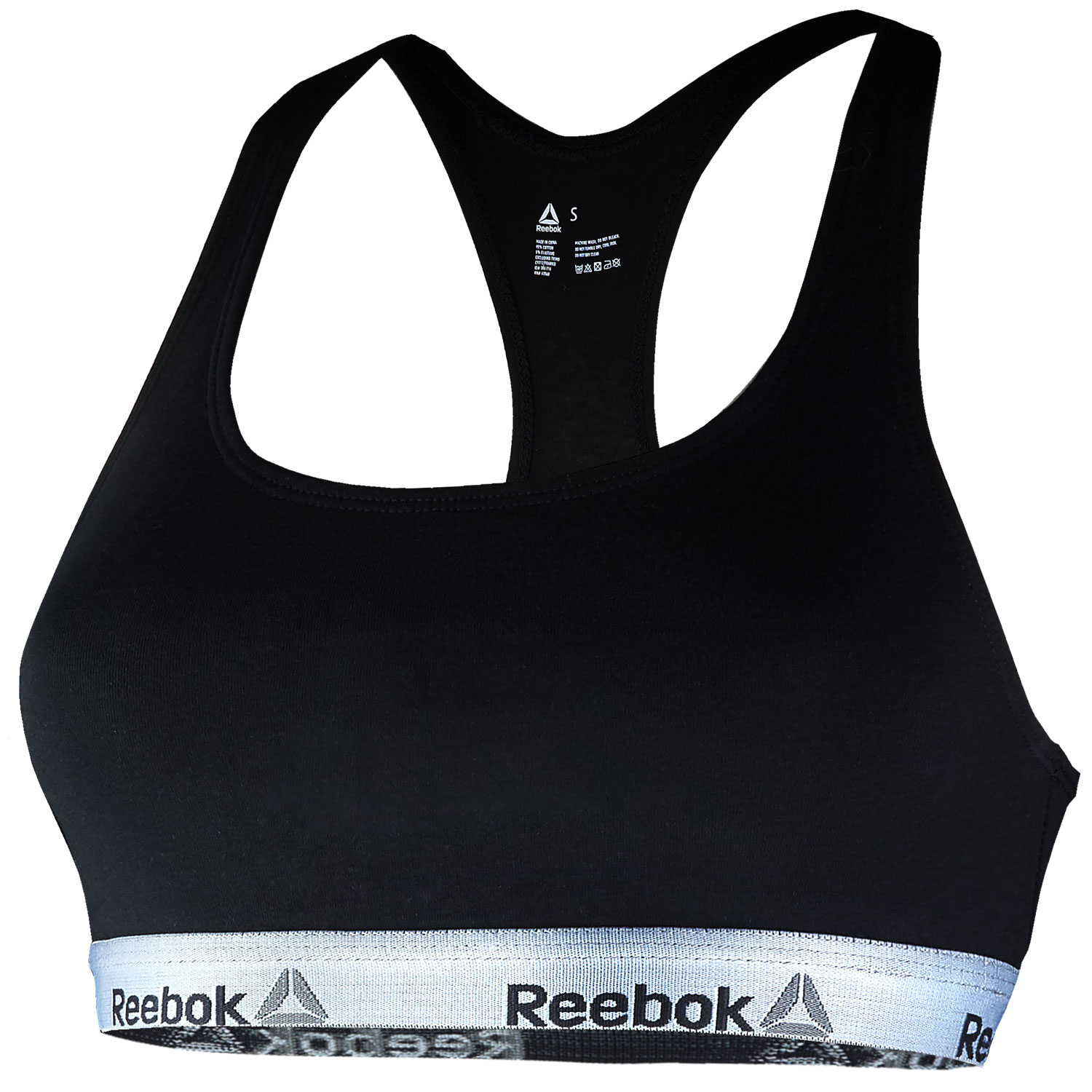 Reebok Damen Bustier, 2er Pack Cotton Elastane Crop Top – Bild 2