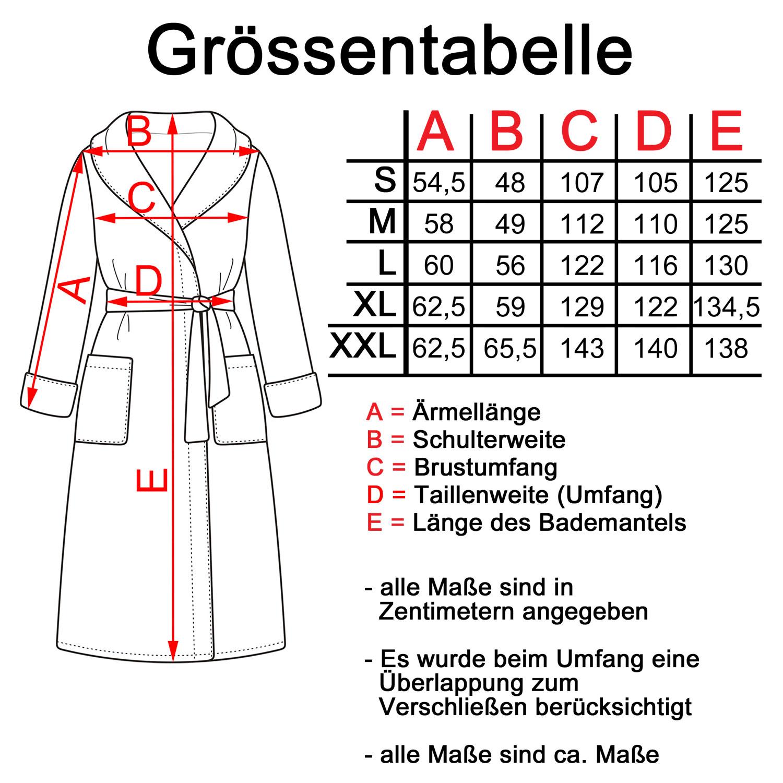 Kimono aus Frottee, Biobaumwolle, Morgenmantel, Bademantel, Saunamantel, weiß – Bild 2