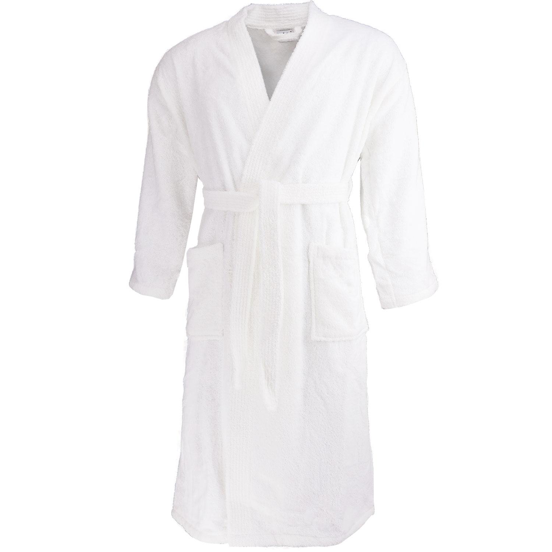 Kimono aus Frottee, Morgenmantel, Bademantel, Saunamantel, weiß, Modell 200 – Bild 1