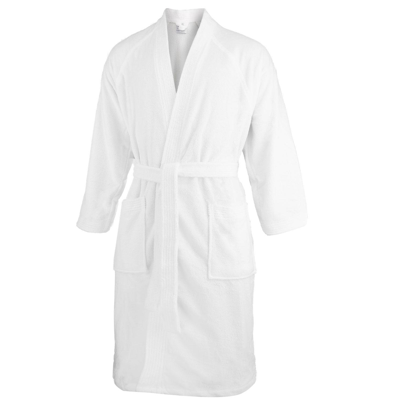 Reisebademantel, Kimono,  Bademantel, Morgenmantel weiß, Modell 570 – Bild 1