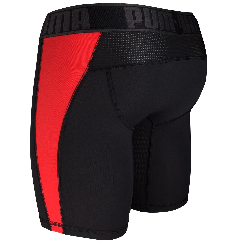 Puma Herren Active Long Boxer, 2 Stück schwarz, schwarz / rot – Bild 9