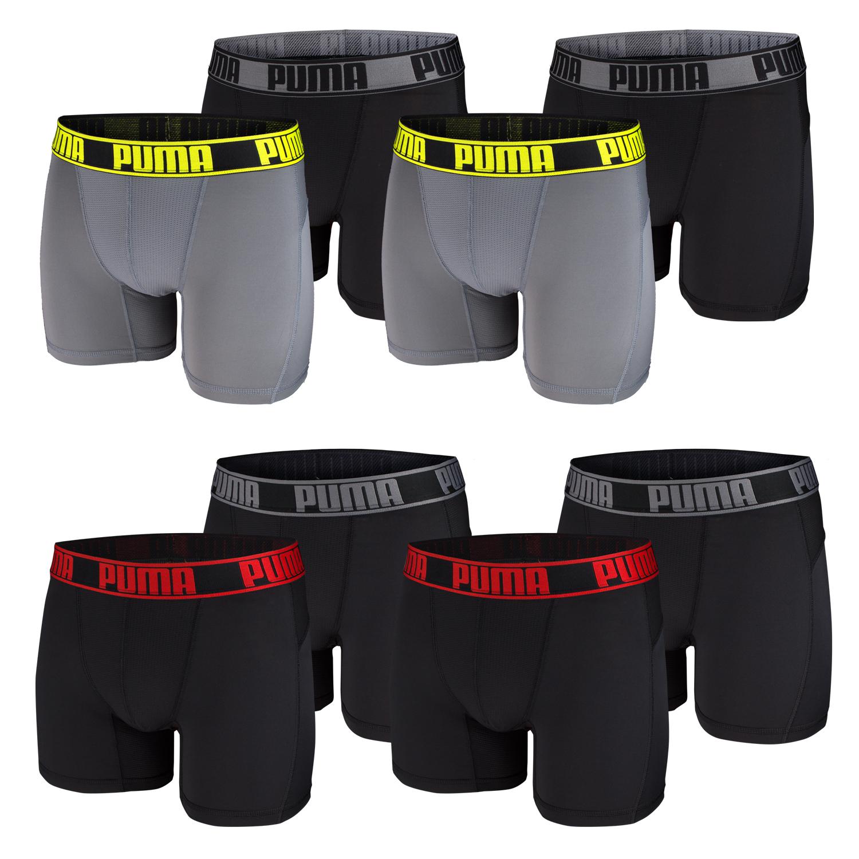 Puma Herren Active Boxershorts, 4 Stück, längeres Bein – Bild 1