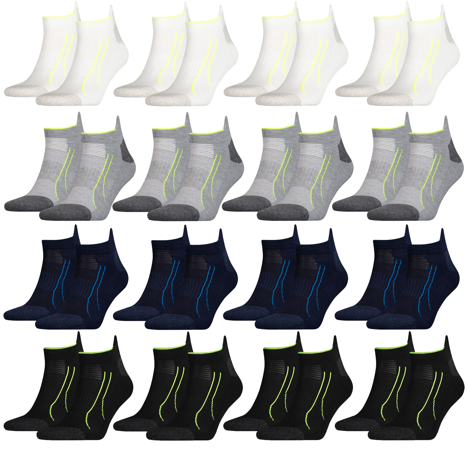 Puma Performance Train Sneaker 8 Paar Füßlinge  Sportsocken Allround Sports – Bild 1