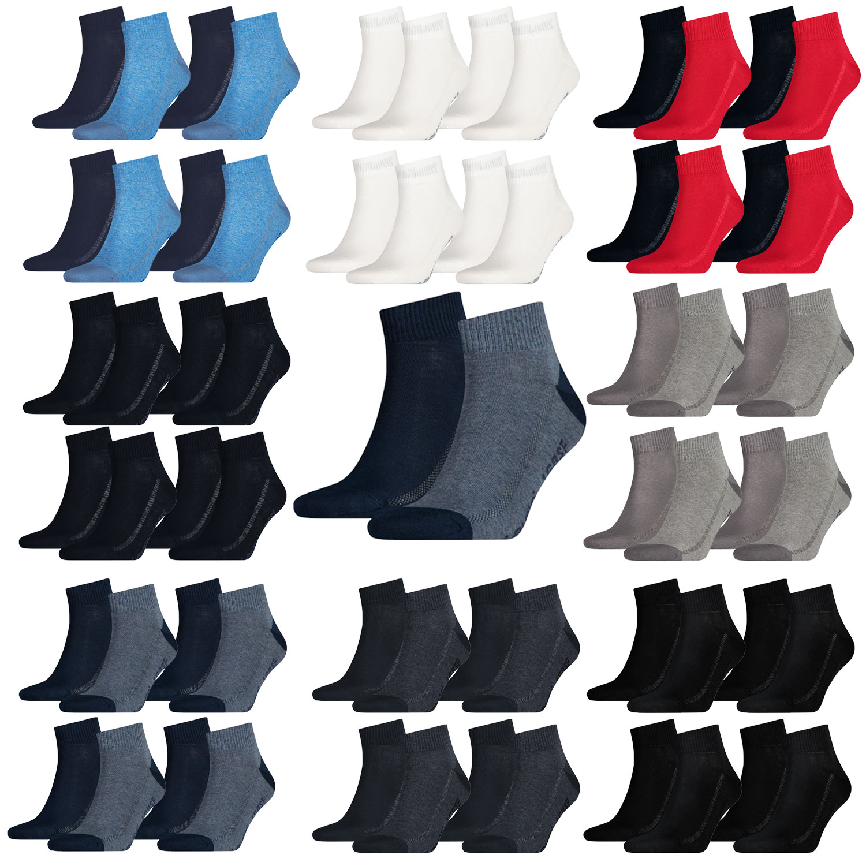 Levi's Quarter 8 Paar Mid Cut Soft Cotton 943003001 Socken verschiedene Farben – Bild 1
