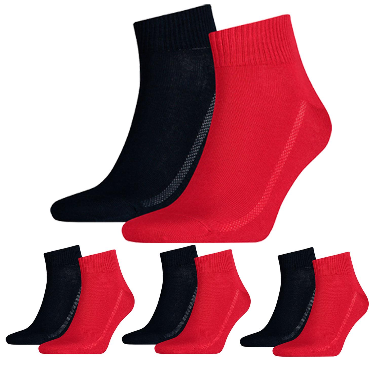 Levi's Quarter 8 Paar Mid Cut Soft Cotton 943003001 Socken verschiedene Farben – Bild 6