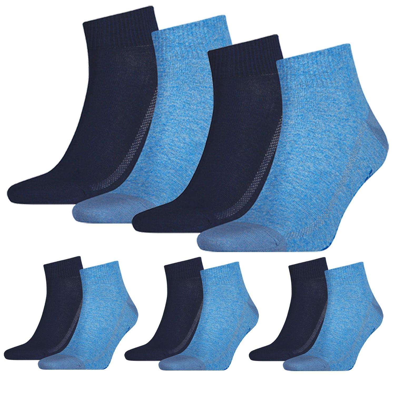 Levi's Quarter 10 Paar Mid Cut Soft Cotton 943003001 verschiedene Farben – Bild 4