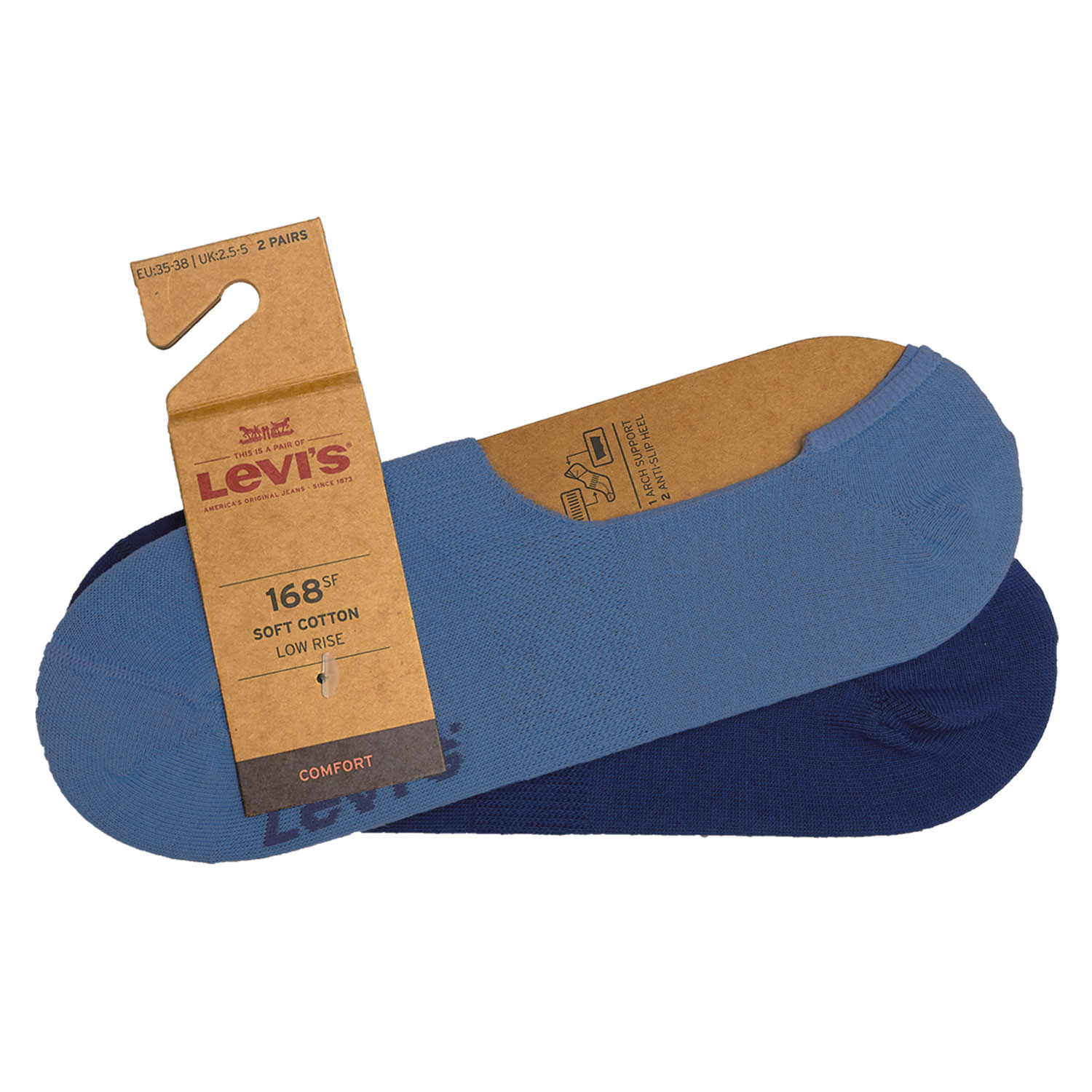 Levi's Füßlinge 8 Paar Low Rise Soft Cotton 943001001 Sneaker Footies Levis – Bild 4