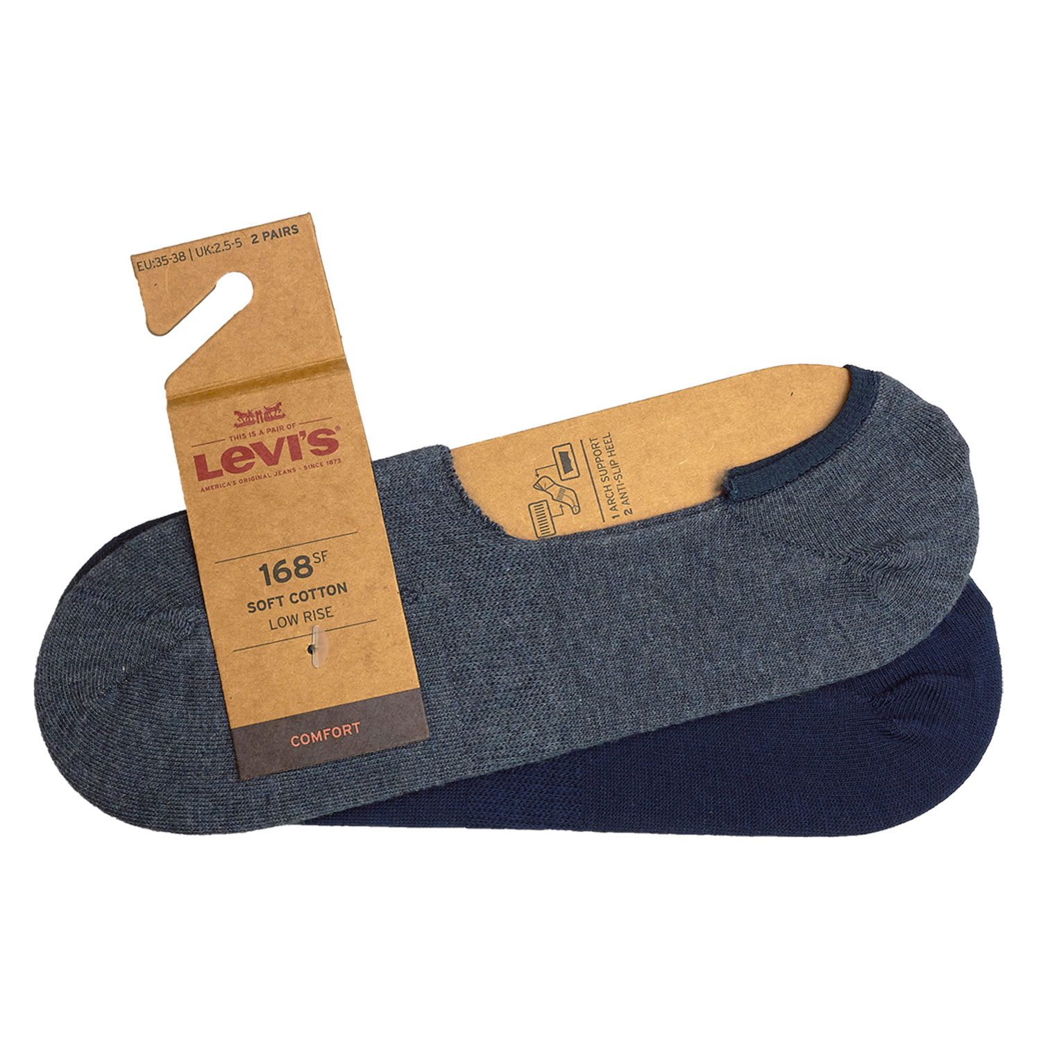 Levi's Füßlinge 8 Paar Low Rise Soft Cotton 943001001 Sneaker Footies Levis – Bild 9