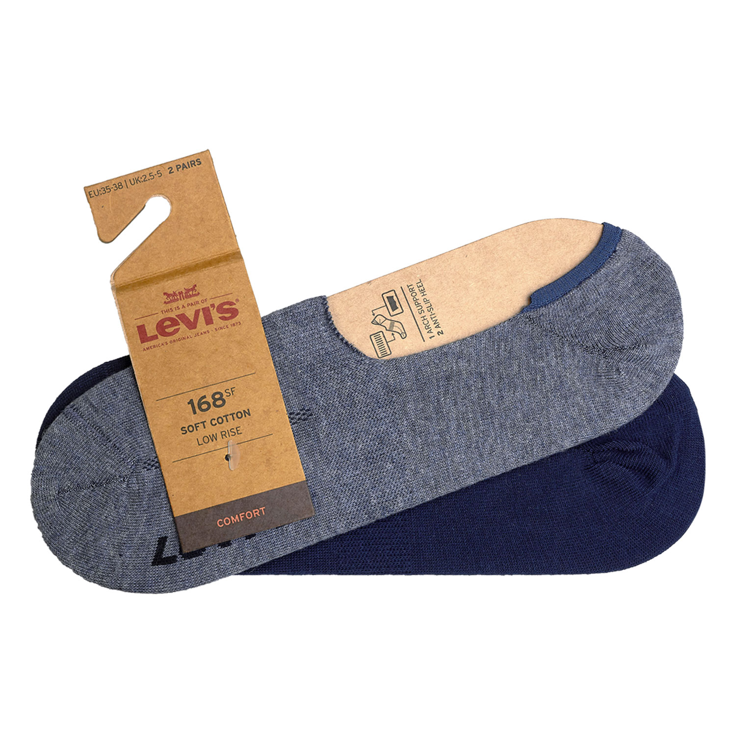 Levi's Füßlinge 8 Paar Low Rise Soft Cotton 943001001 Sneaker Footies Levis – Bild 7