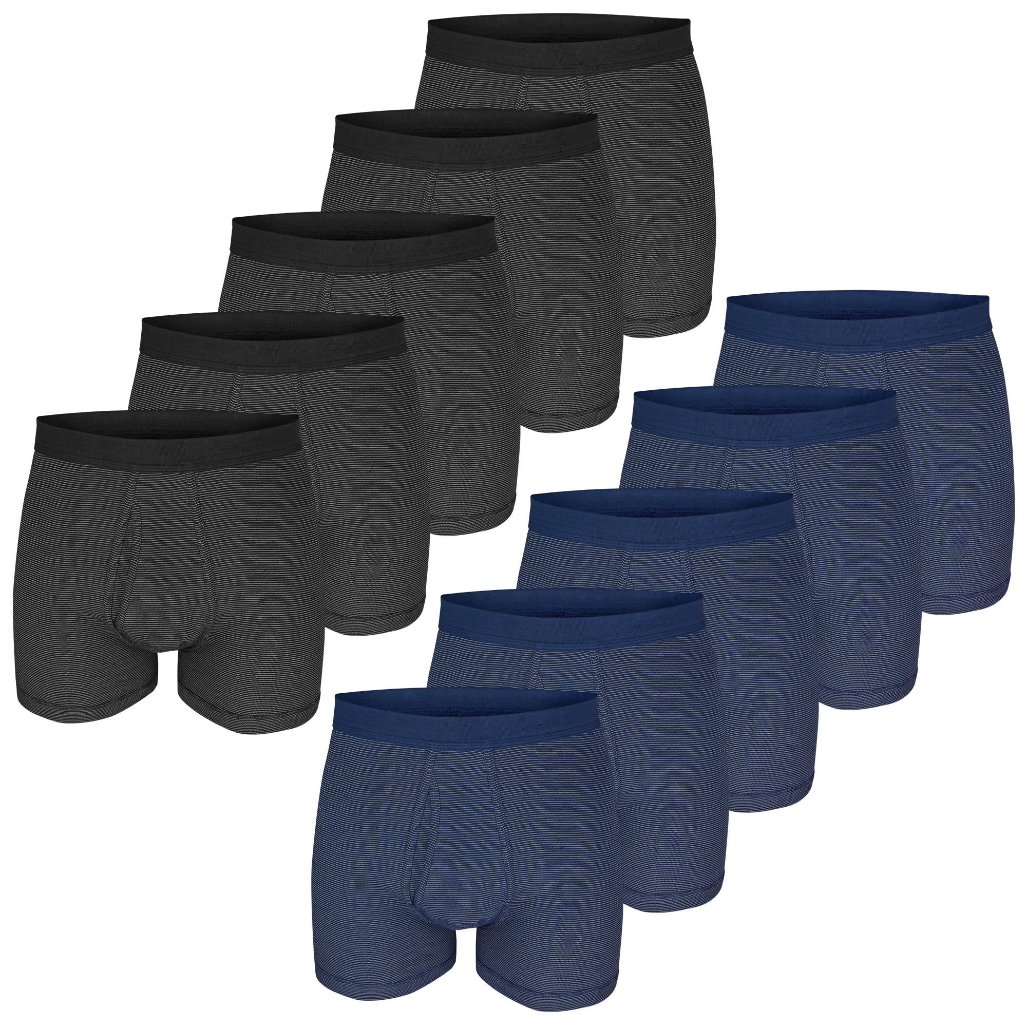 ESGE Herren Boxershorts, Pants, Feinripp Ringel, 5 Stück, mit Eingriff – Bild 1
