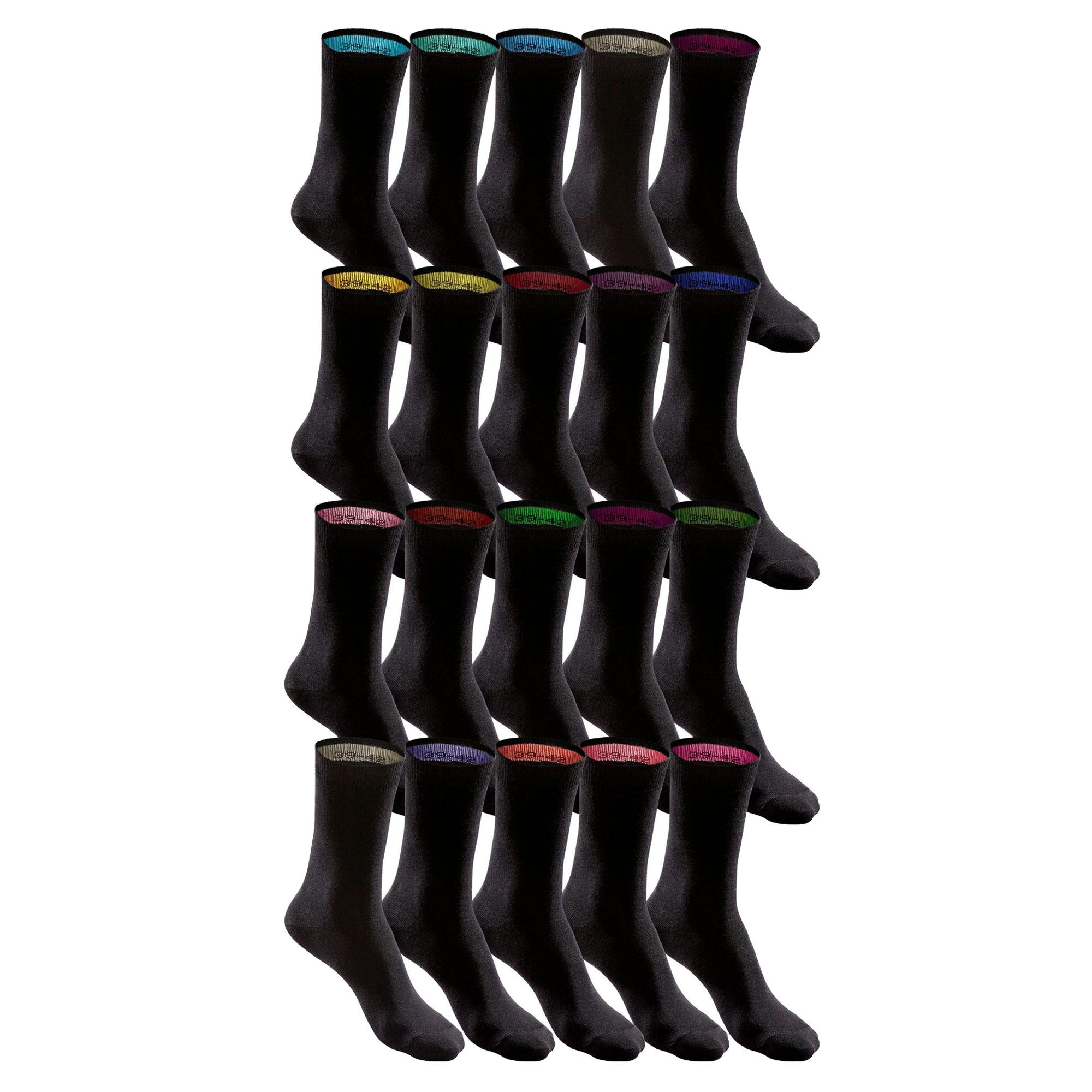 HIS Socken, Unisex, 20 Paar mit farbigem Bündchen – Bild 3