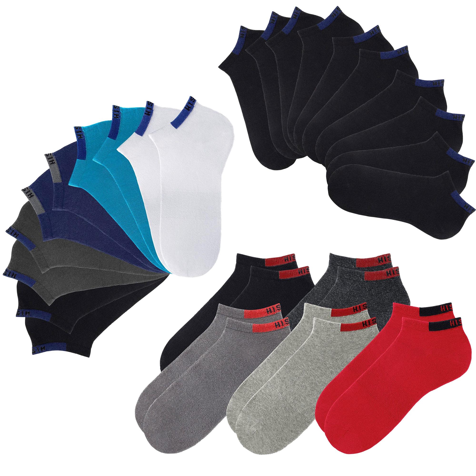 HIS Sneaker, Socken, Unisex, 10 Paar, verstärkte Belastungszonen – Bild 1