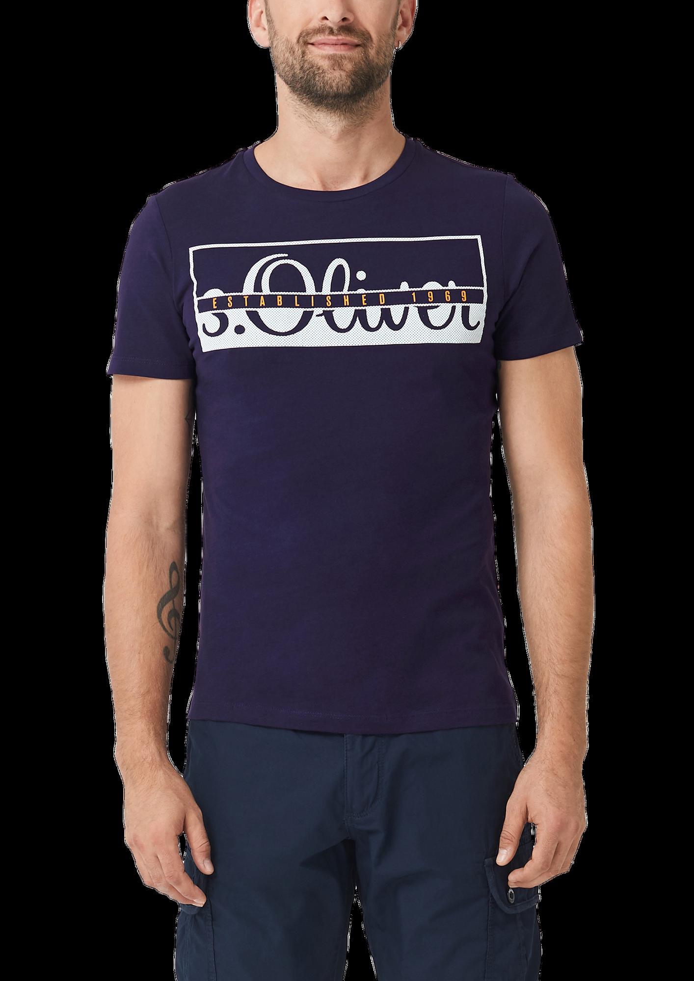 s.Oliver Herren T-Shirt, Rundhals Slim Fit, 2 Stück – Bild 4