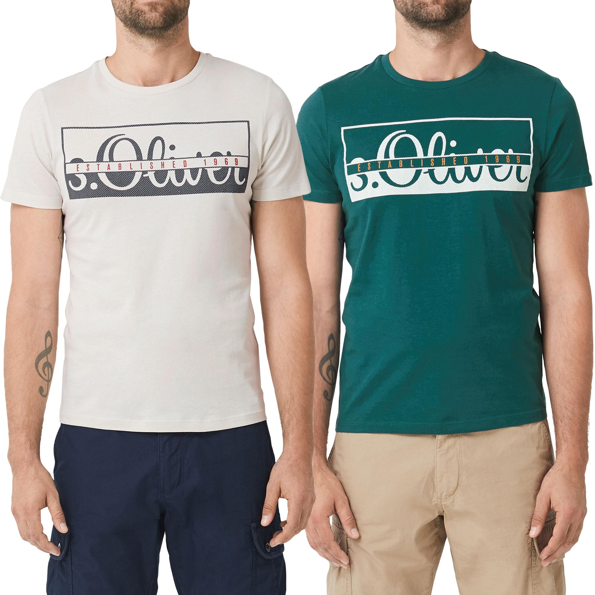 s.Oliver Herren T-Shirt, Rundhals Slim Fit, 2 Stück – Bild 7
