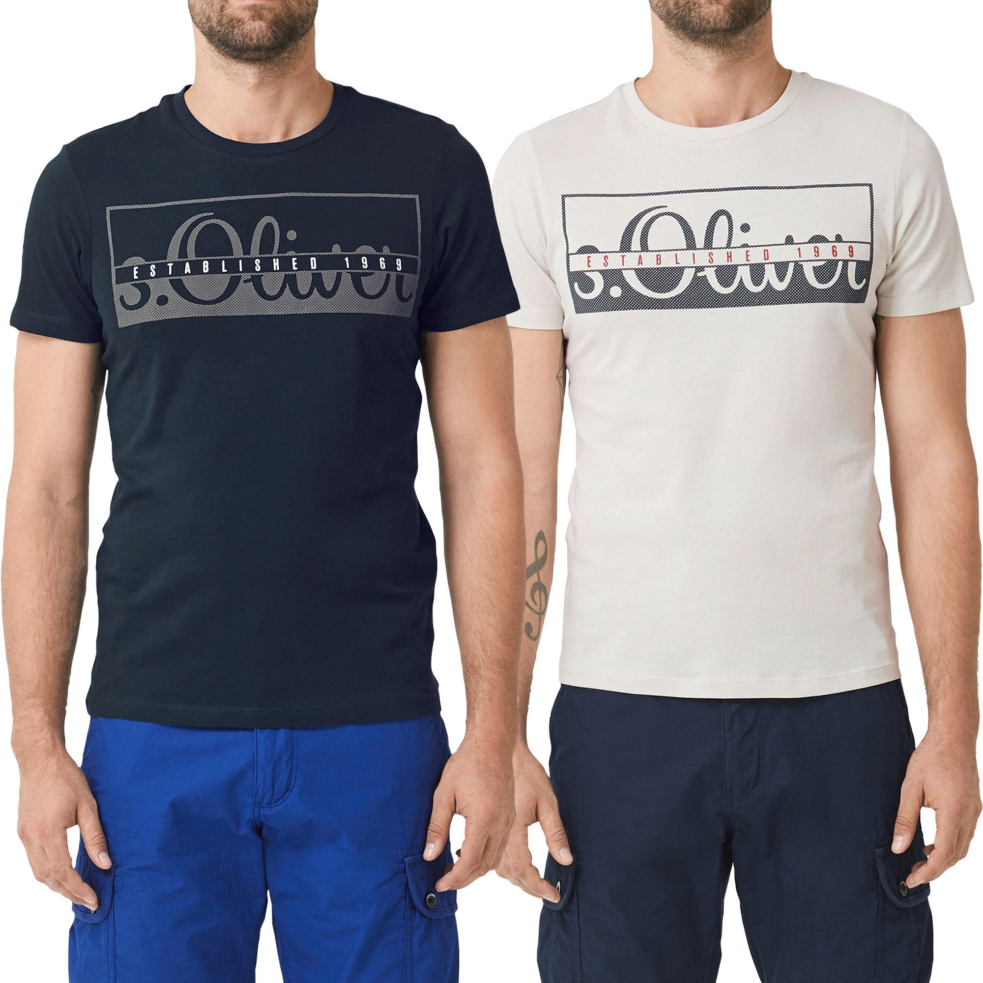 s.Oliver Herren T-Shirt, Rundhals Slim Fit, 2 Stück – Bild 5