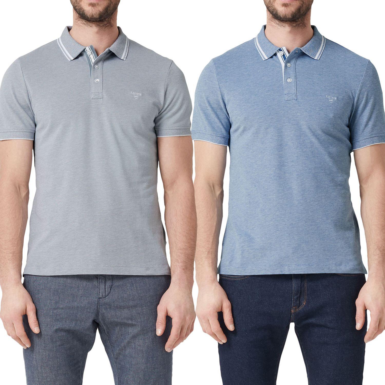 doppelter gutschein schnell verkaufend Sonderverkäufe s.Oliver Herren Poloshirt, melange, mit Knopfleiste, Slim Fit