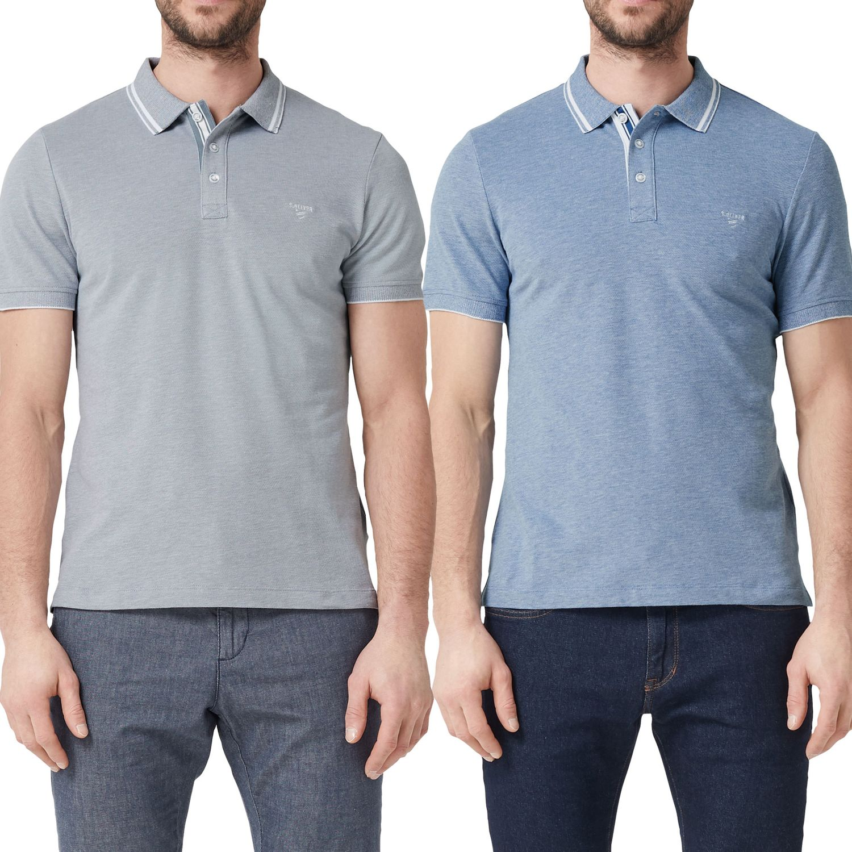huge discount 57b59 f9671 s.Oliver Herren Poloshirt, melange, mit Knopfleiste, Slim Fit