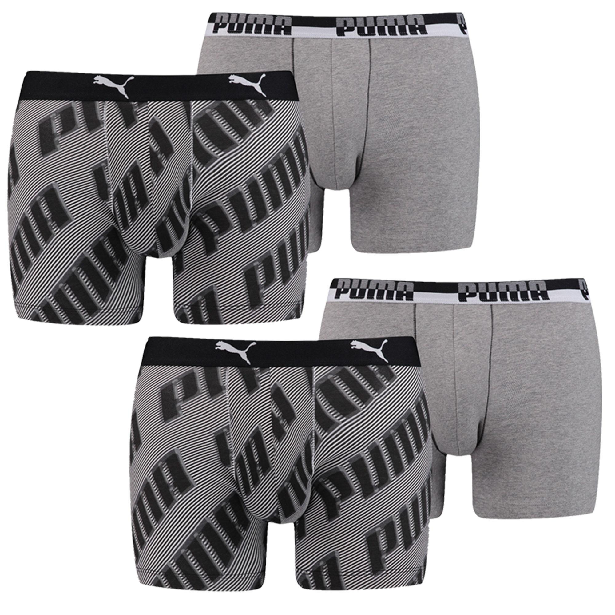 Puma Herren Boxershorts, 4 Stück Boxershorts, Schriftzug – Bild 2