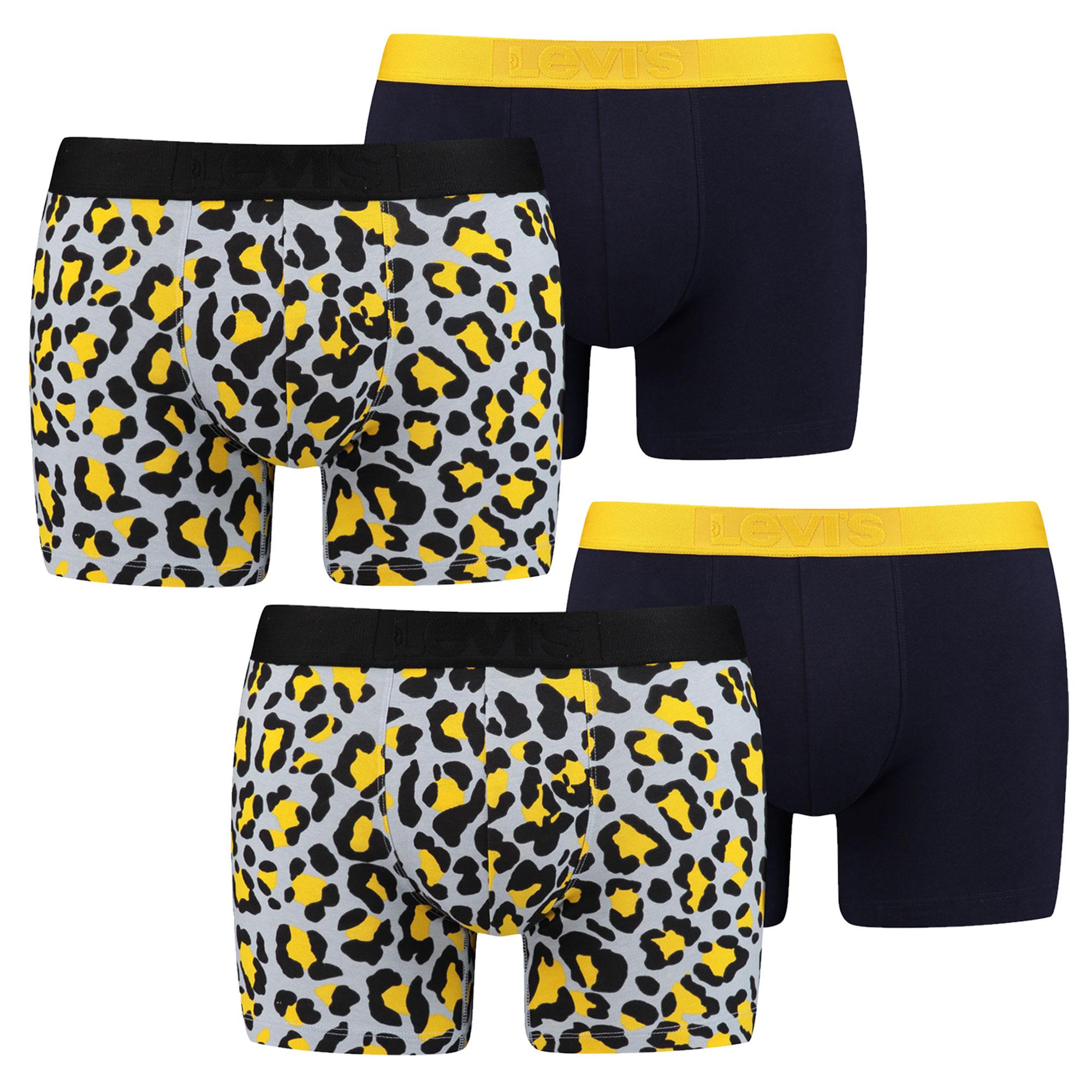 LEVI'S 4 Stück Herren Boxershorts, Bubble Cheetah Boxer – Bild 4