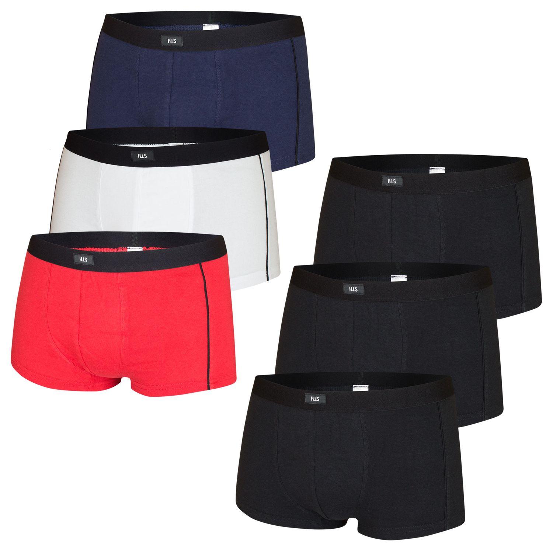 5 H.I.S Herren Boxershorts Hipster Baumwolle Elasthan Unterhosen Retro Short HIS