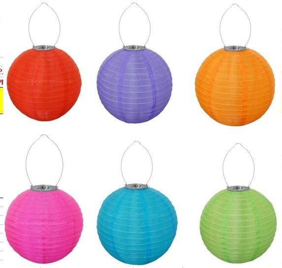 xl 30 cm led solar lampion solarlampion 6 farben wetterfest stoff m solarmodul garten. Black Bedroom Furniture Sets. Home Design Ideas