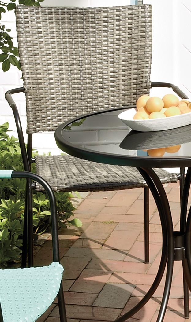 gartenstuhl stapelstuhl stapelsessel stuhl braun polyrattan wetterfest 54x63x89 garten gartenm bel. Black Bedroom Furniture Sets. Home Design Ideas