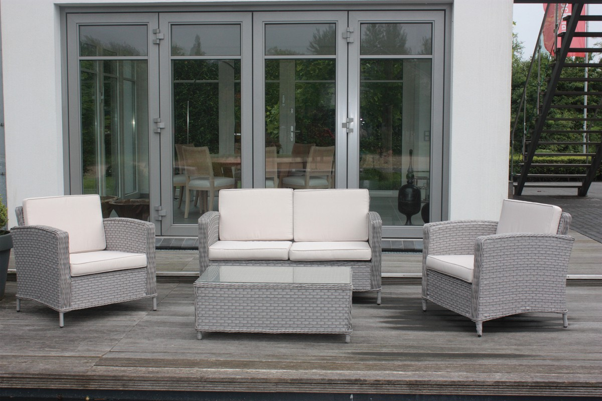 lounge set gartenm bel sitzgruppe garten garnitur alu geflecht polyrattan m bel garten. Black Bedroom Furniture Sets. Home Design Ideas
