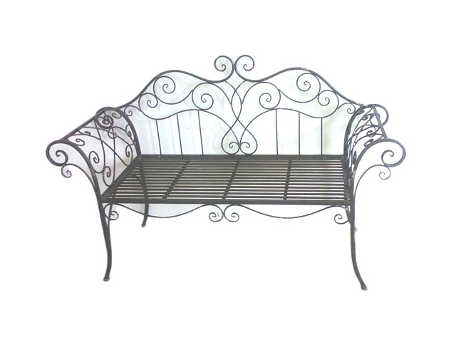 gartenbank metall parkbank gartenm bel metall verziert ornamente vintage 2er garten gartenm bel. Black Bedroom Furniture Sets. Home Design Ideas
