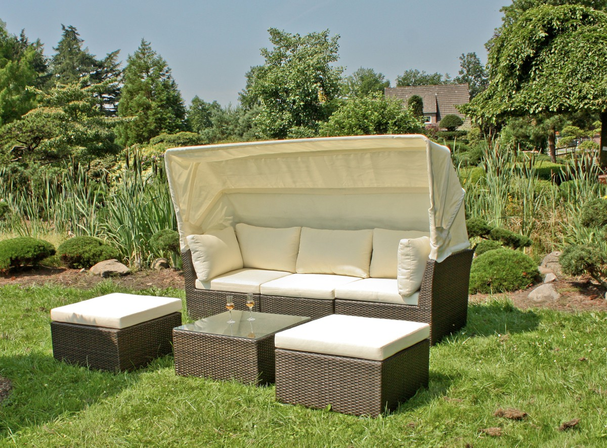 gartensofa sitzgruppe lounge garnitur gartenm bel mit sonnendach gartenlounge xl garten. Black Bedroom Furniture Sets. Home Design Ideas