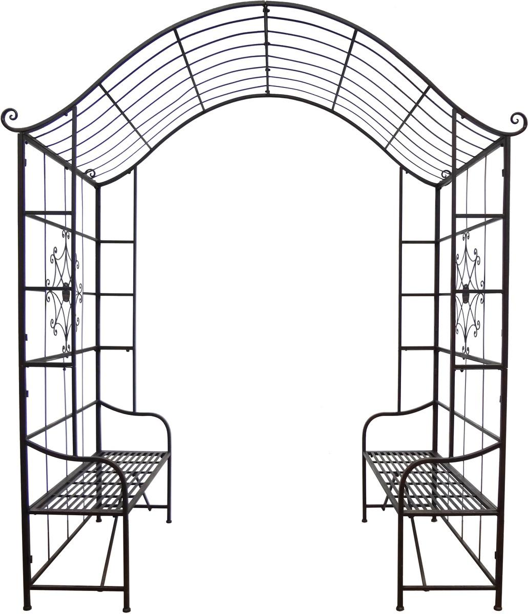 rosenbogen sitzbank pergola spalier rankhilfe metall eisen pulverbeschichtet xxl garten. Black Bedroom Furniture Sets. Home Design Ideas