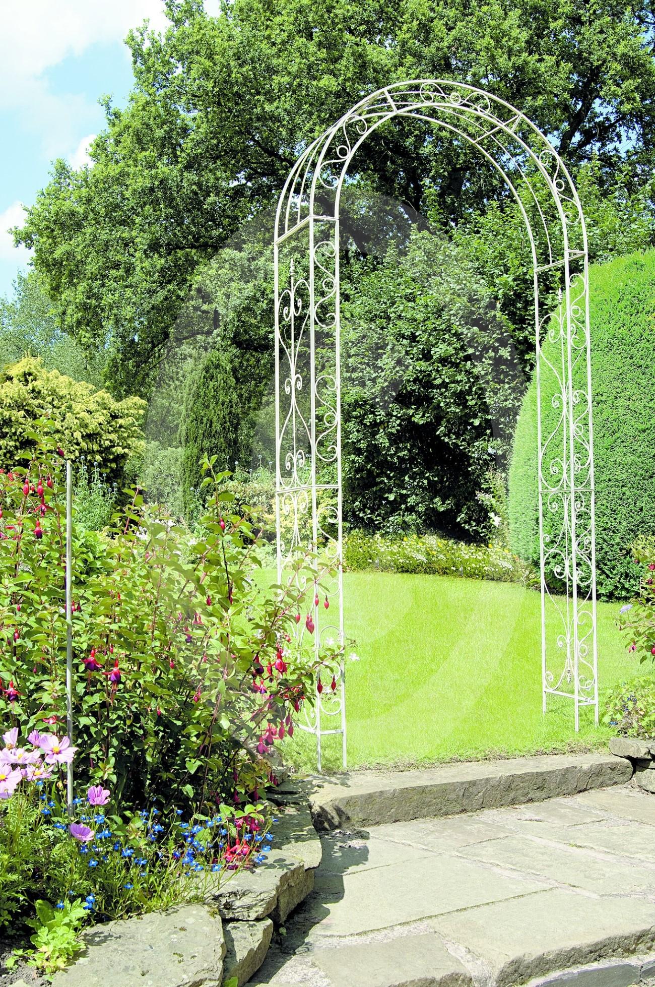 Rosenbogen rosen bogen rankgitter rankhilfe spalier for Gartendekoration eisen