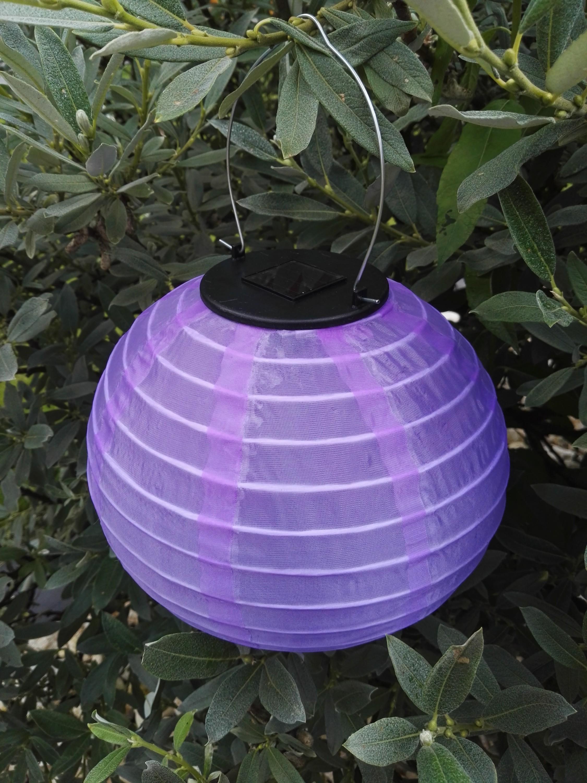 solar lampion led beleuchtung solar laterne garten leuchte h ngend rund farbig ebay. Black Bedroom Furniture Sets. Home Design Ideas