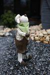 Gartenfigur Gartendeko Dekofigur Garten Figur Metall Laterne Teelicht handbemalt