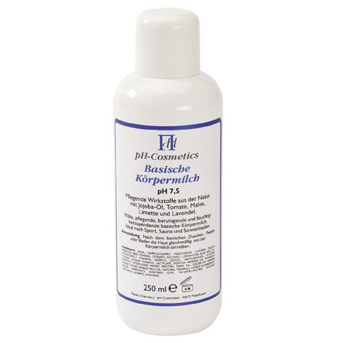 pH Cosmetics Basische Körpermilch pH 7,5 - 250 ml