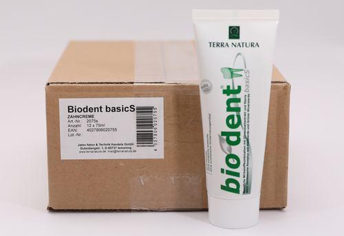 Biodent basicS - Basische Zahncreme 75 ml - 12 Tuben im Karton