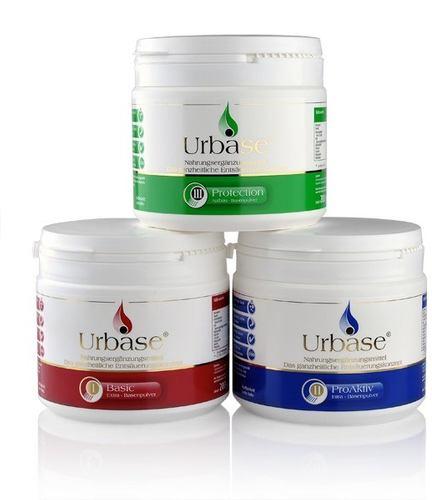 Urbase® Basenkur-Set, bestehend aus Urbase® I Basic, II ProAktiv und III Protection - dauerhaft günstig!
