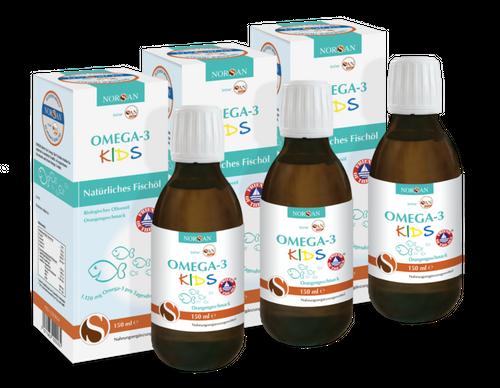 NORSAN Omega-3 Fischöl Kids 150 ml NORSAN im 3er Set
