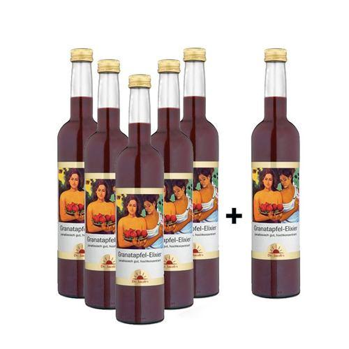 Dr. Jacob's 5+1 Granatapfel-Elixier - 500 ml - Sonderangebot: 5 kaufen, 6 erhalten!