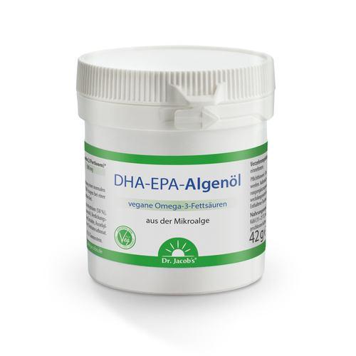 Dr. Jacob's DHA-EPA-Algenöl (Omega 3) 60 Kapseln