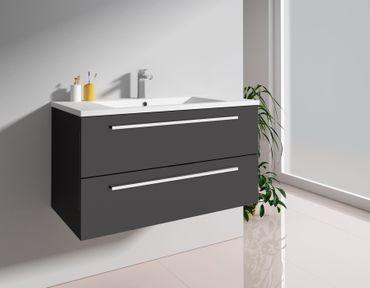 Badmöbel-Set 2-tlg. Unterschrank eckig mit zwei Schubladen – Bild 6