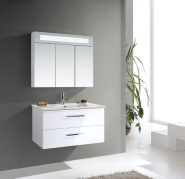 Badmöbel-Set Langeoog | LED-Spiegelschrank – Bild 3