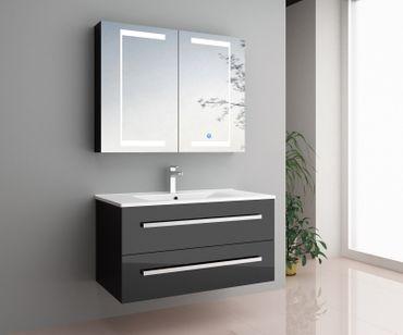 Badmöbel-Set Sylt | LED-Touch-Spiegelschrank – Bild 3